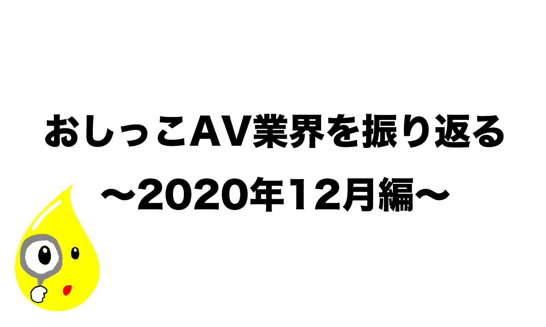 おしっこAV業界を振り返る 〜2020年12月編〜